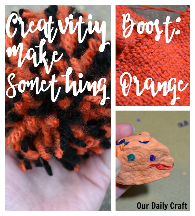 Creativity Boost: Make something orange