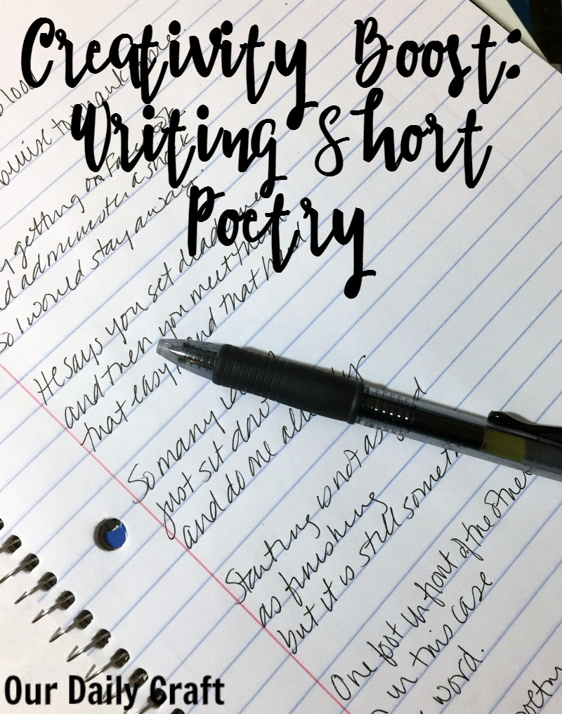 Try writing short poetry to keep a record of your days.