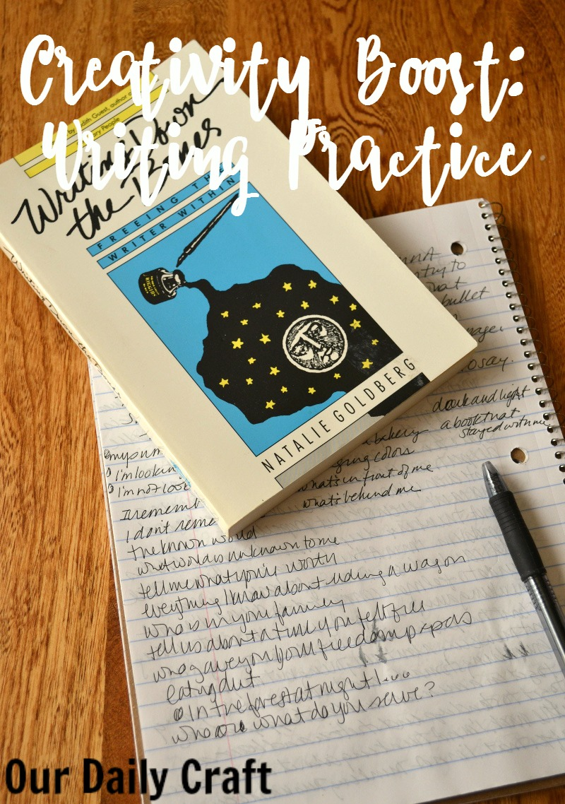 Give your creativity a boost, even if you aren't a writer, by trying writing practice.