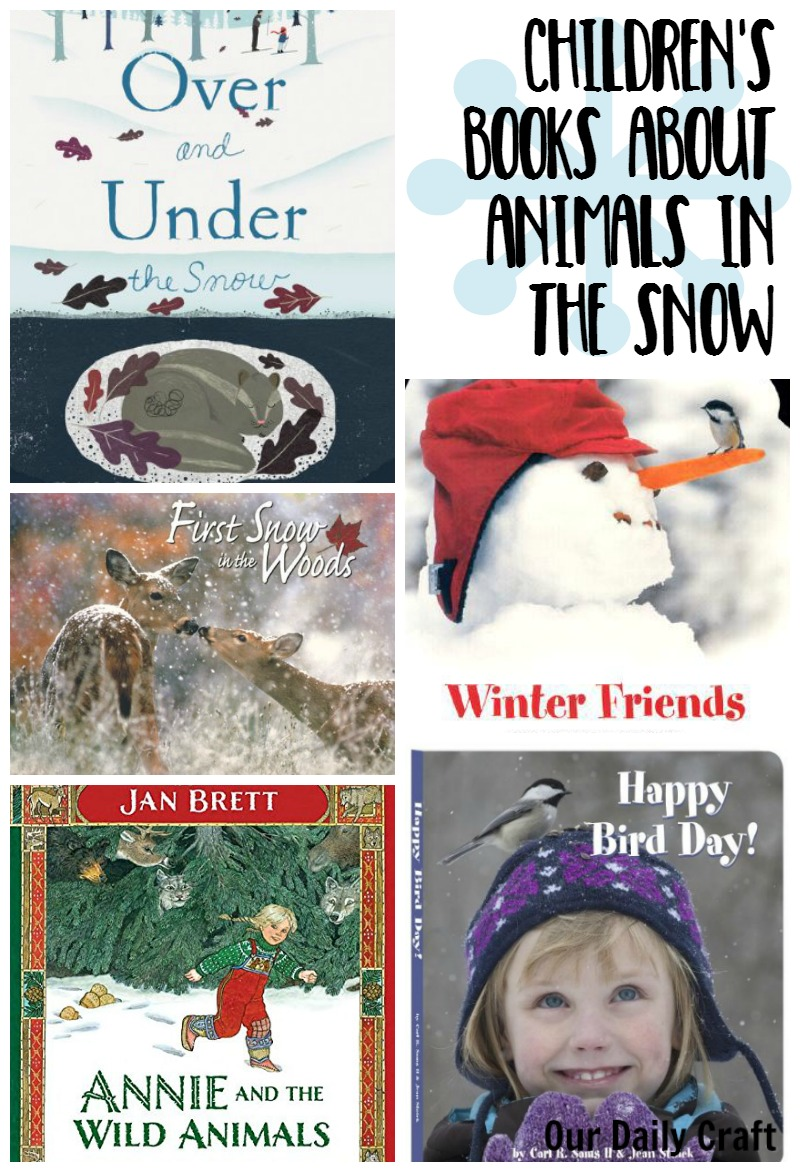 A collection of fun children's books having to do with animals in the snow.