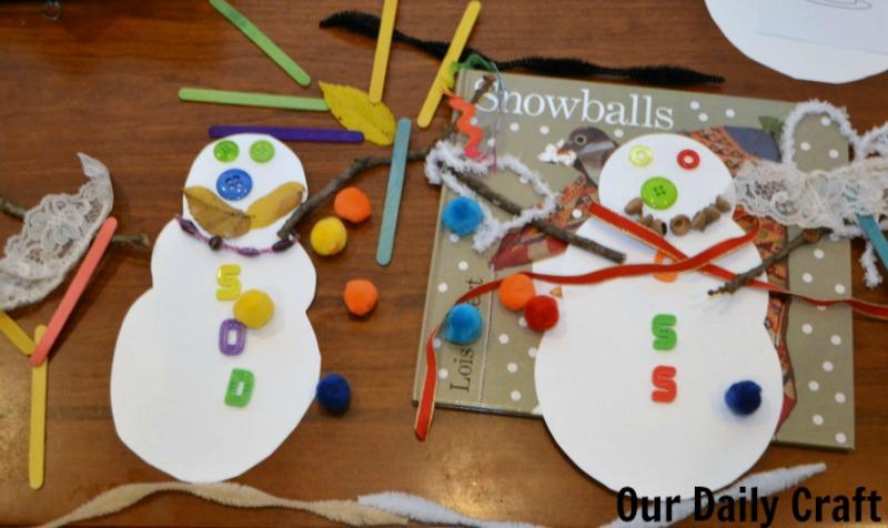 snowballs snowman activity