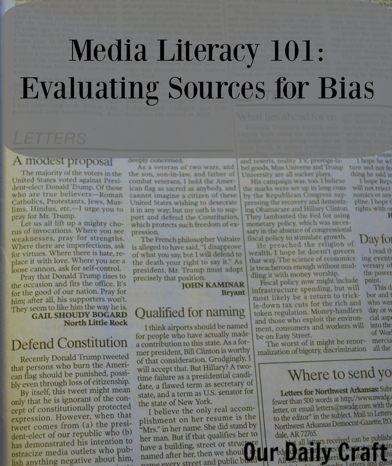 Evaluating Sources for bias in the media