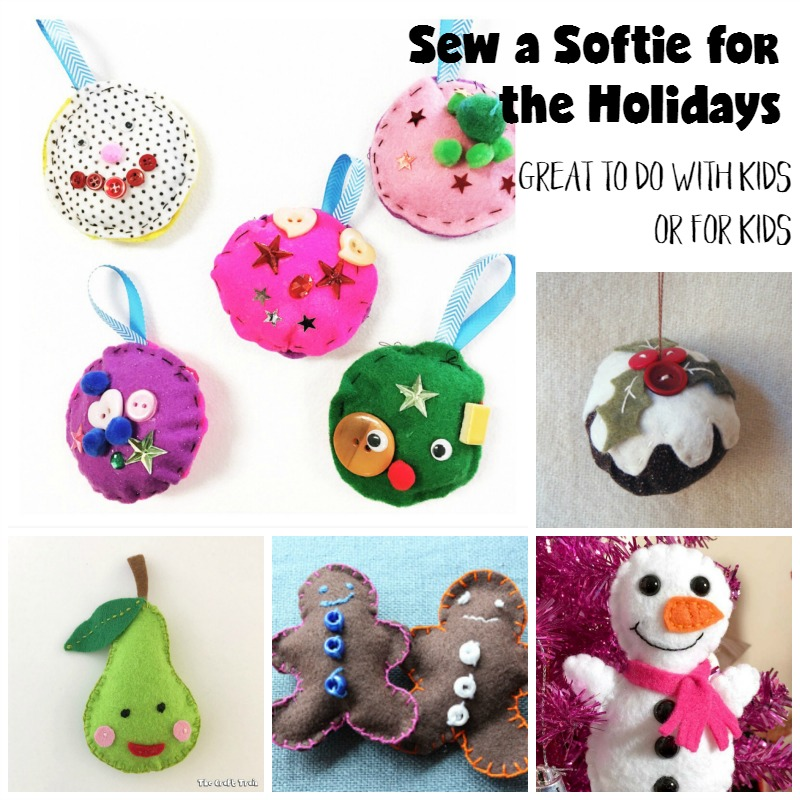 Sew a softie for the holidays with or for your kids with these easy sewing patterns.