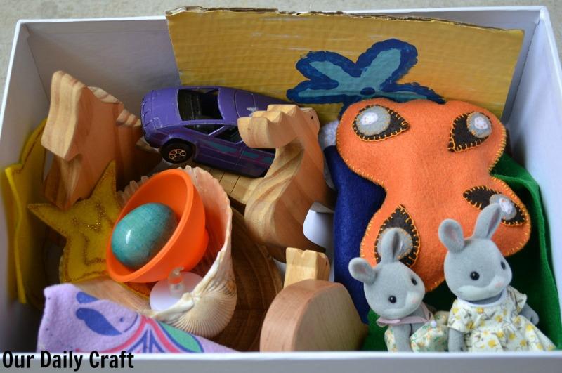 Make a Christmas storytelling tin to encourage children to tell stories.
