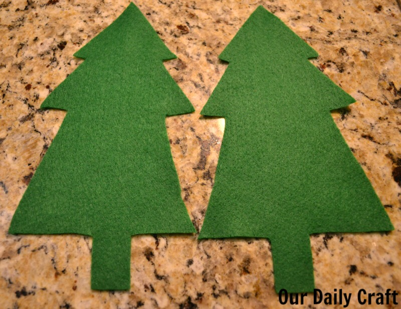 Sew a Christmas tree softie for the tree or a gift.