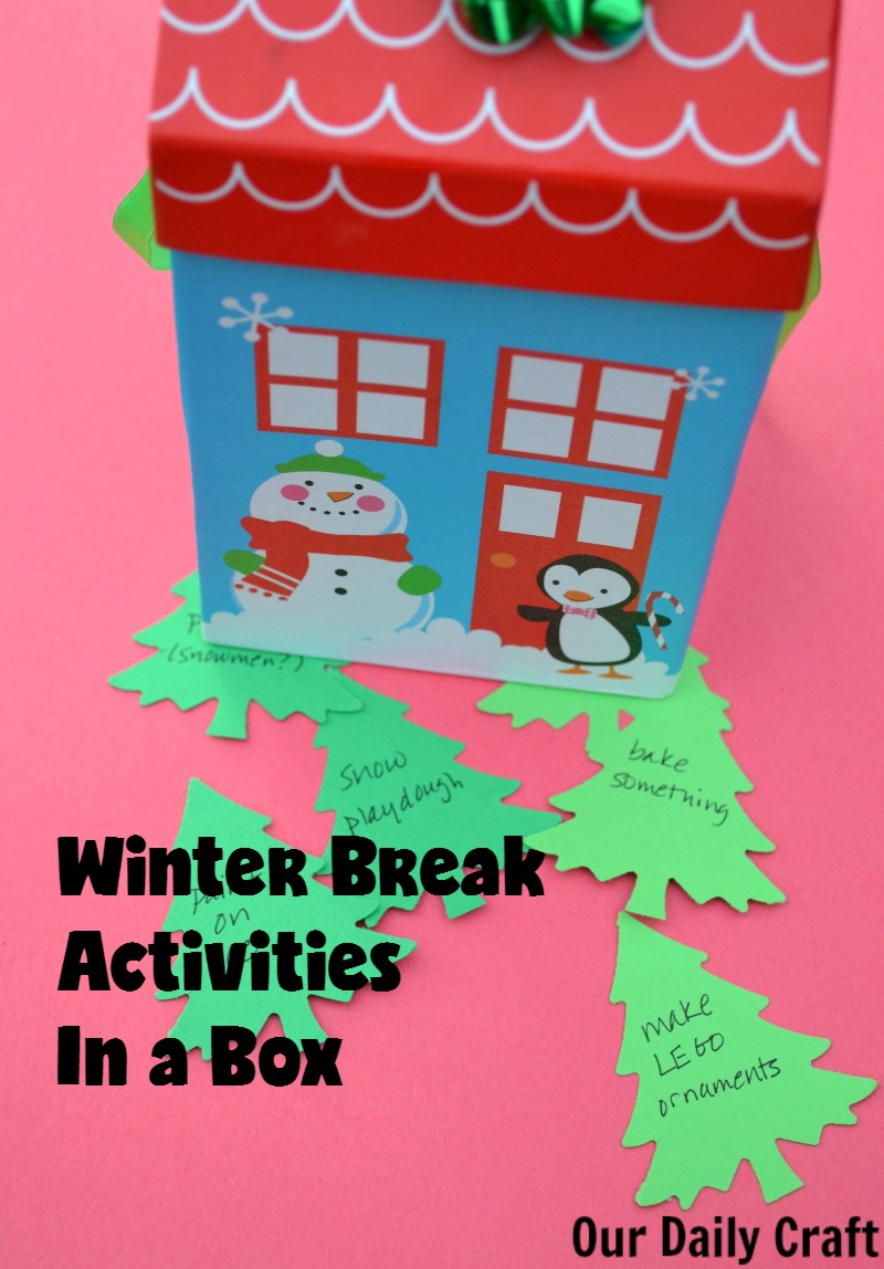 Keep your kids occupied over the holidays with this winter break activities in a box idea.