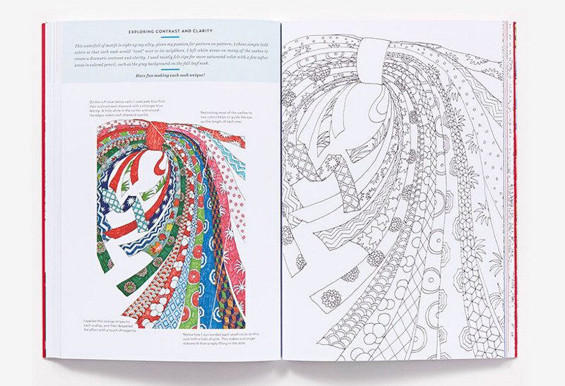 Kaffe Fassett coloring book review and giveaway.