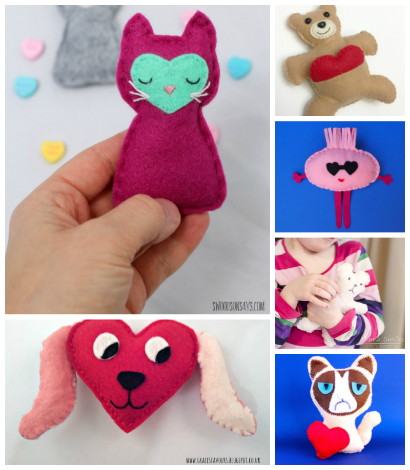 Fun softies to make for Valentine's Day.