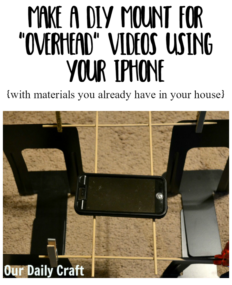 Make a DIY mount for overhead videos (sort of) using your iPhone.