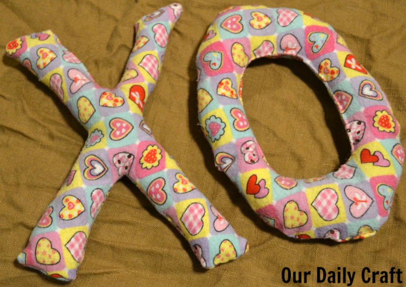X and O Softies to Sew for Valentine's Day.