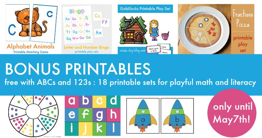 Buy ABCs and 123s at a special price and get a bunch of bonus printables.