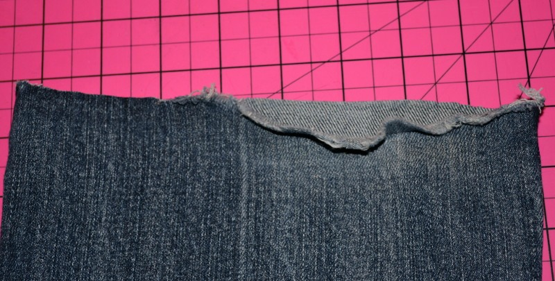 cutting off old hem