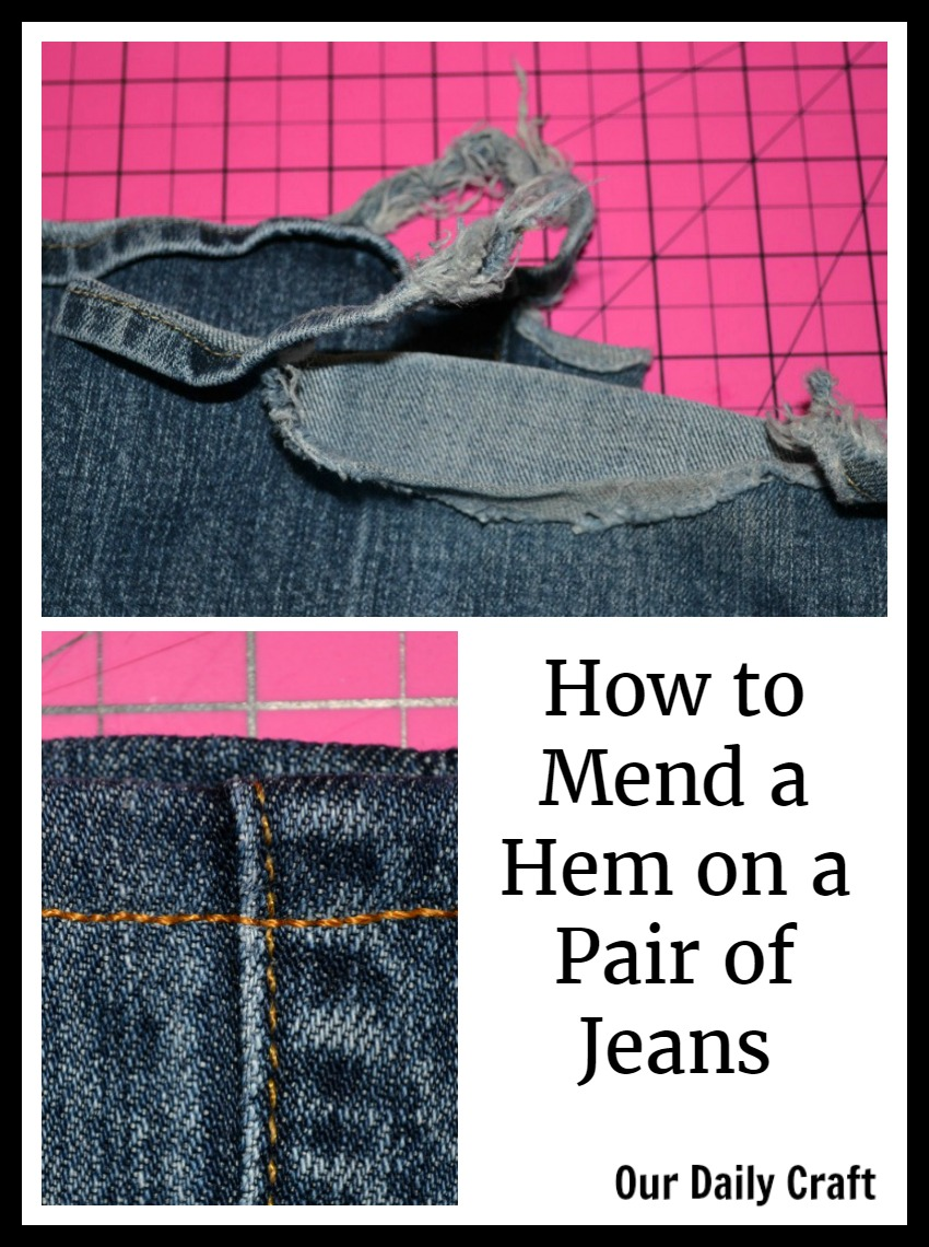 How to Sew a New Hem on Your Jeans the Easy Way