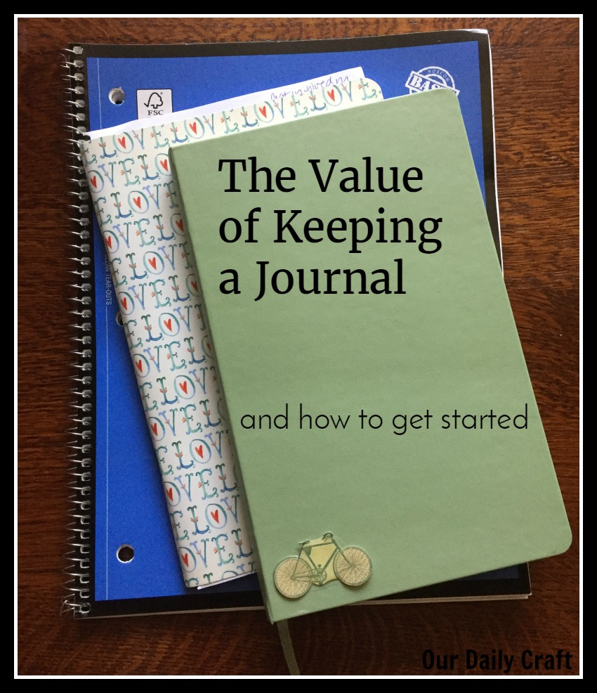 Why and how to keep a journal or notebook.