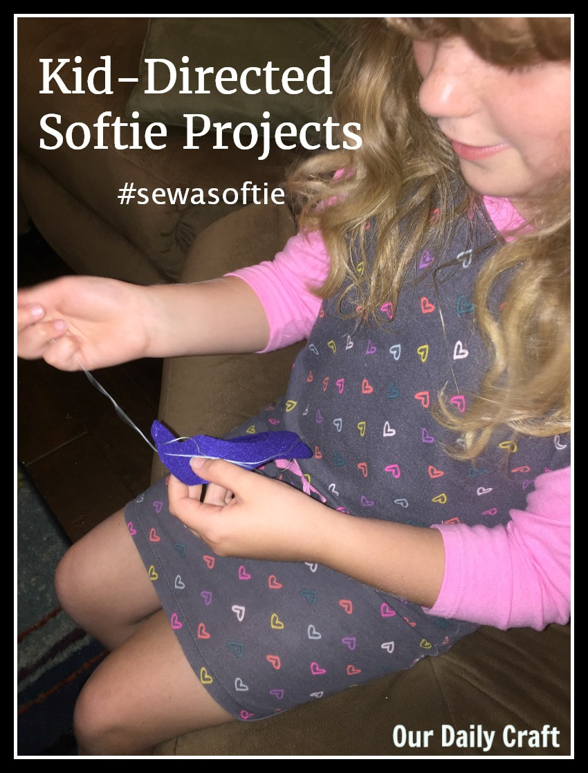 kids sewing sew a softie