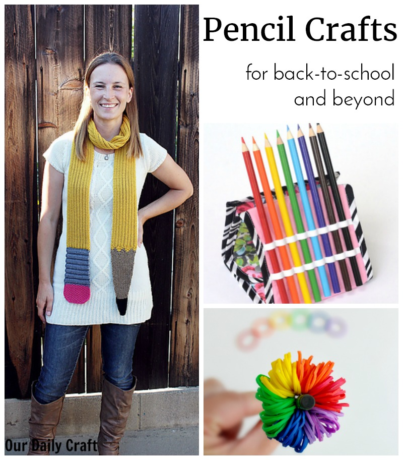 Fun Pencil Crafts for Back to School and Beyond