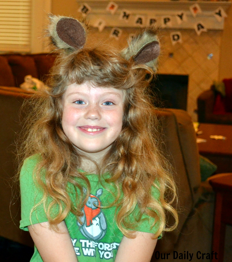How to make easy Ewok ears and hoods for a Star Wars party.