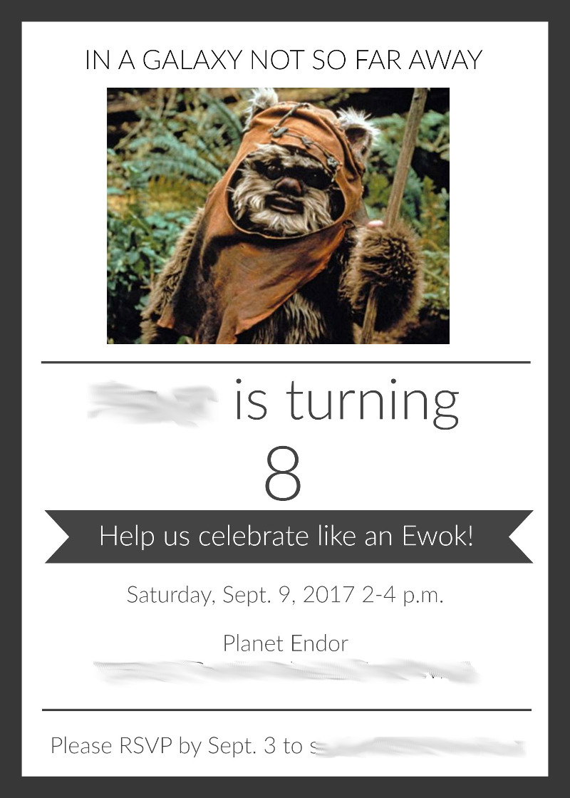 Ewok birthday party ideas and crafts