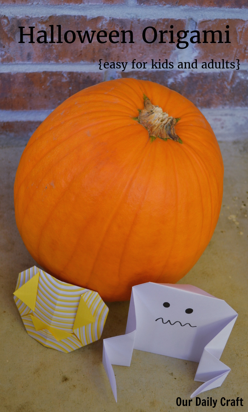 Halloween origami is easy and fun for kids and adults.