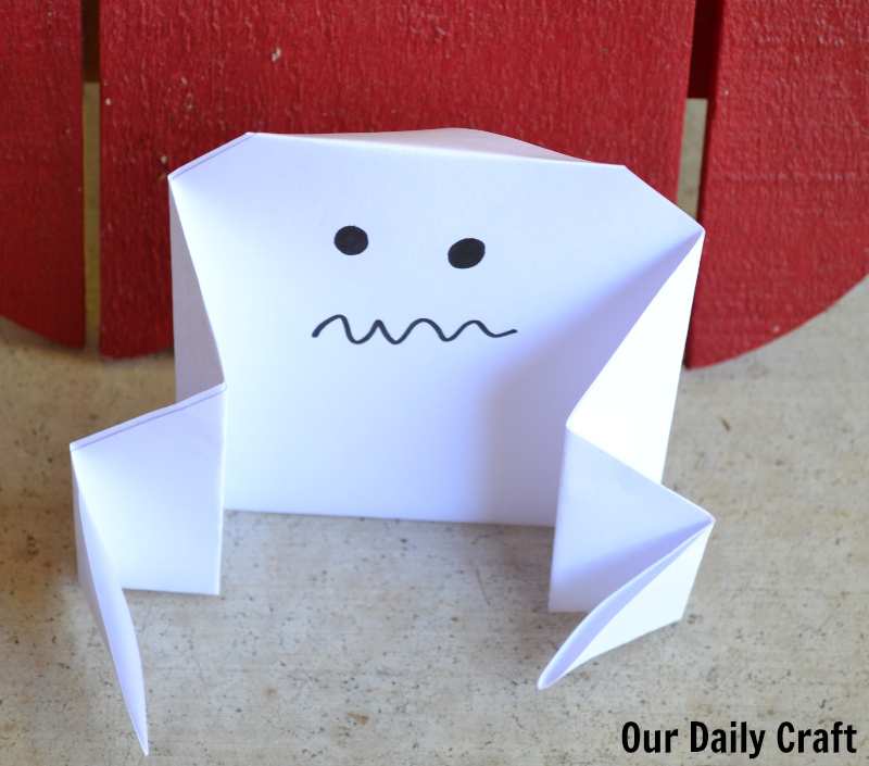 Origami for Halloween is fun for kids and adults.