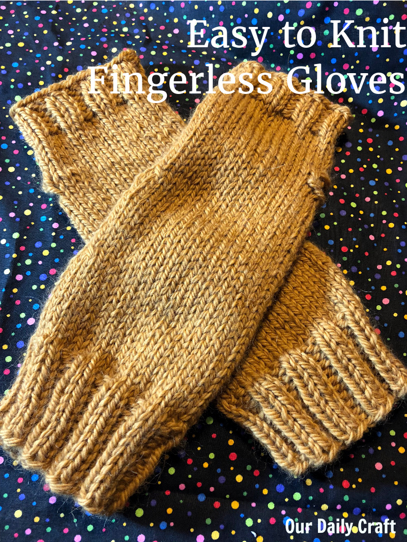 easy to knit fingerless gloves