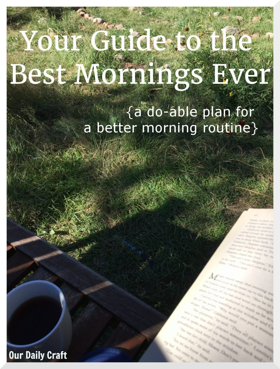 three steps to your best morning routine ever