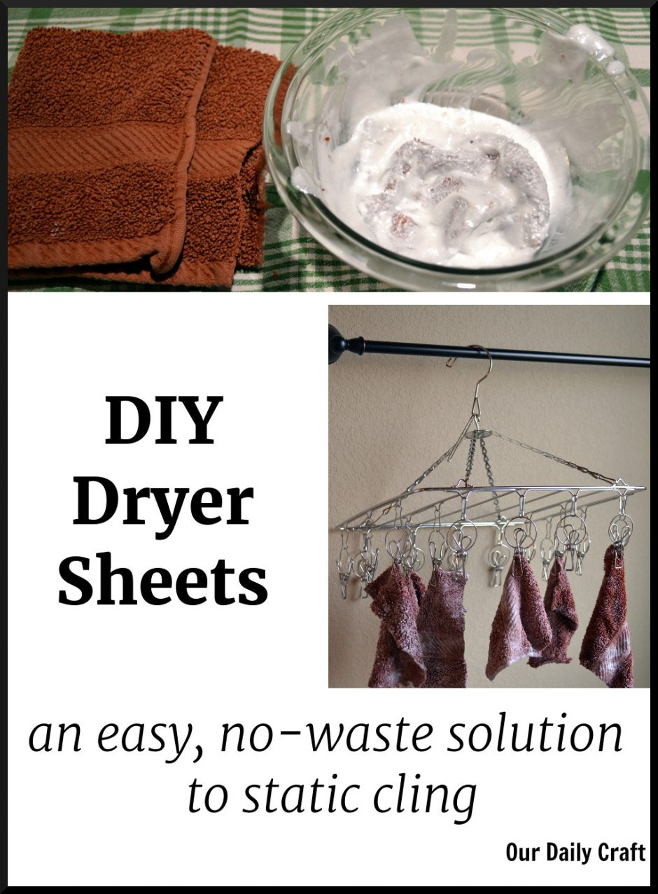 how to make your own reusable dryer sheets