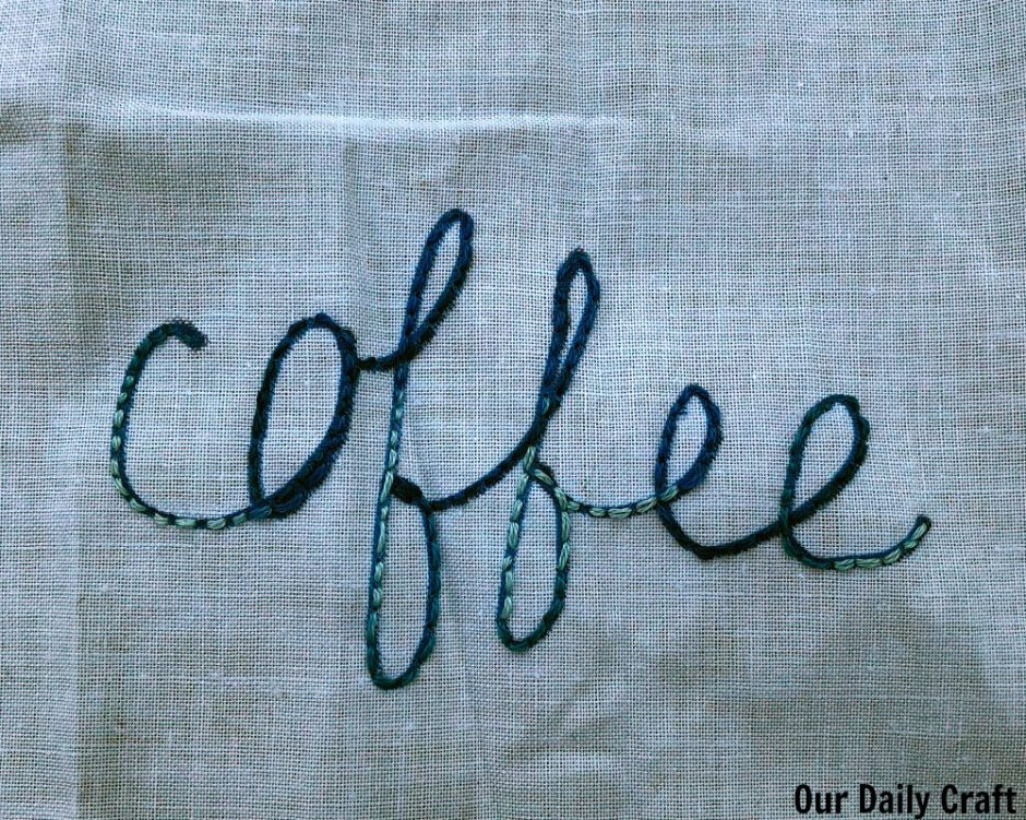 coffee embroidery hoop art