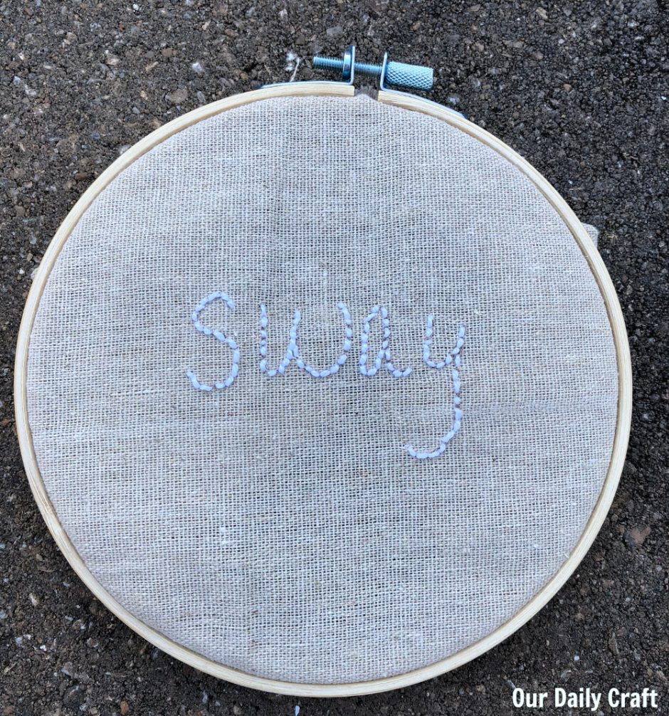 sway embroidery hoop art