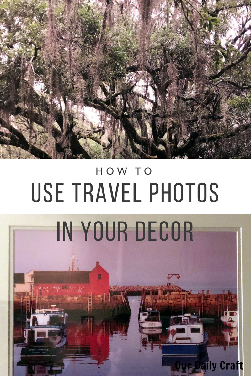 how to use travel photos in your decor