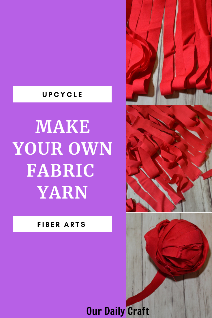 make your own fabric yarn