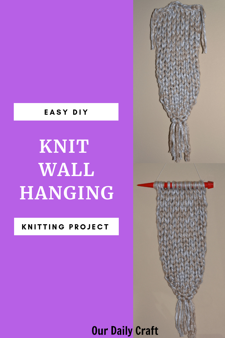 knit wall hanging diy