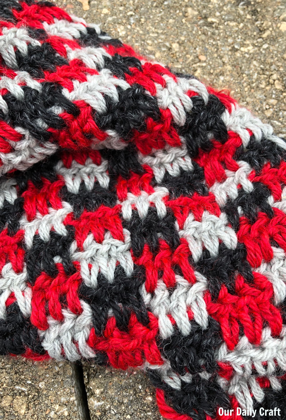 crochet buffalo plaid