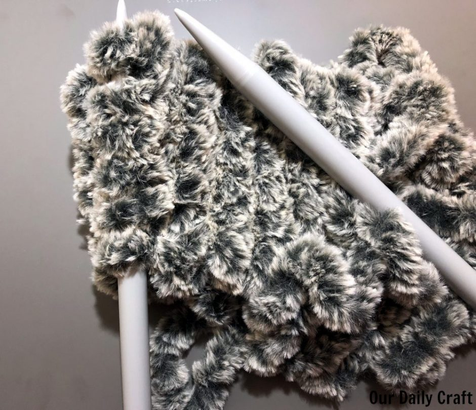 knitting faux fur headband