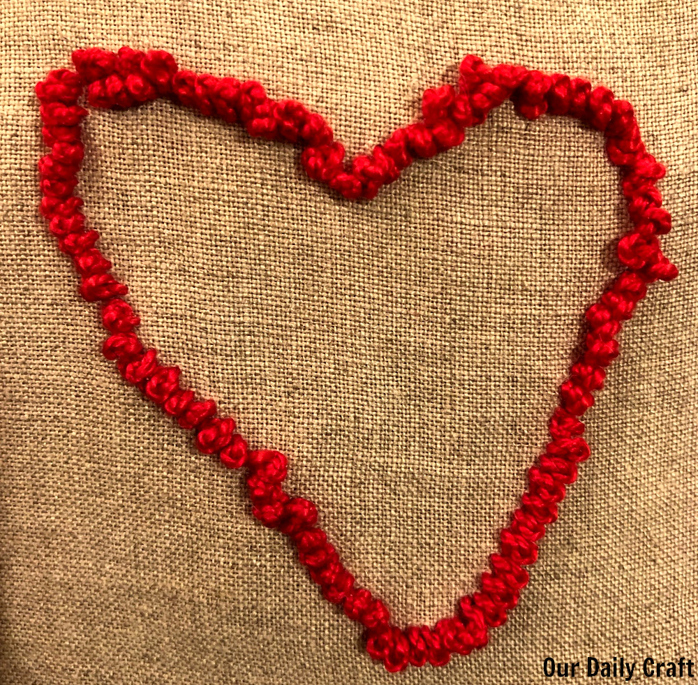 How to Stitch a French Knot Heart