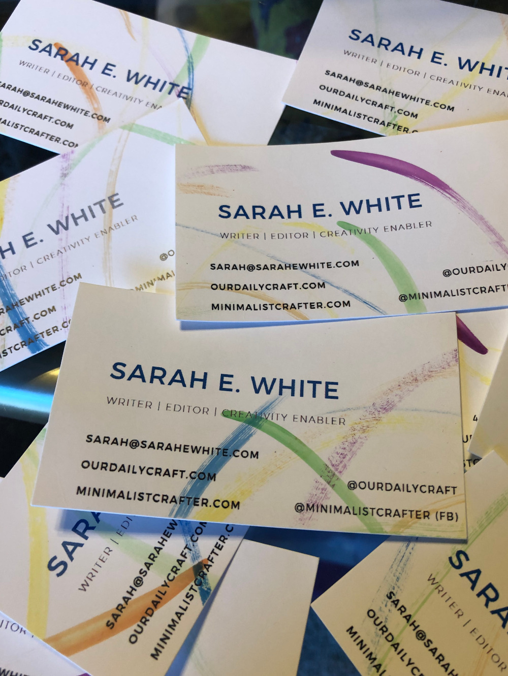 Personalize Your Business Cards with Watercolor