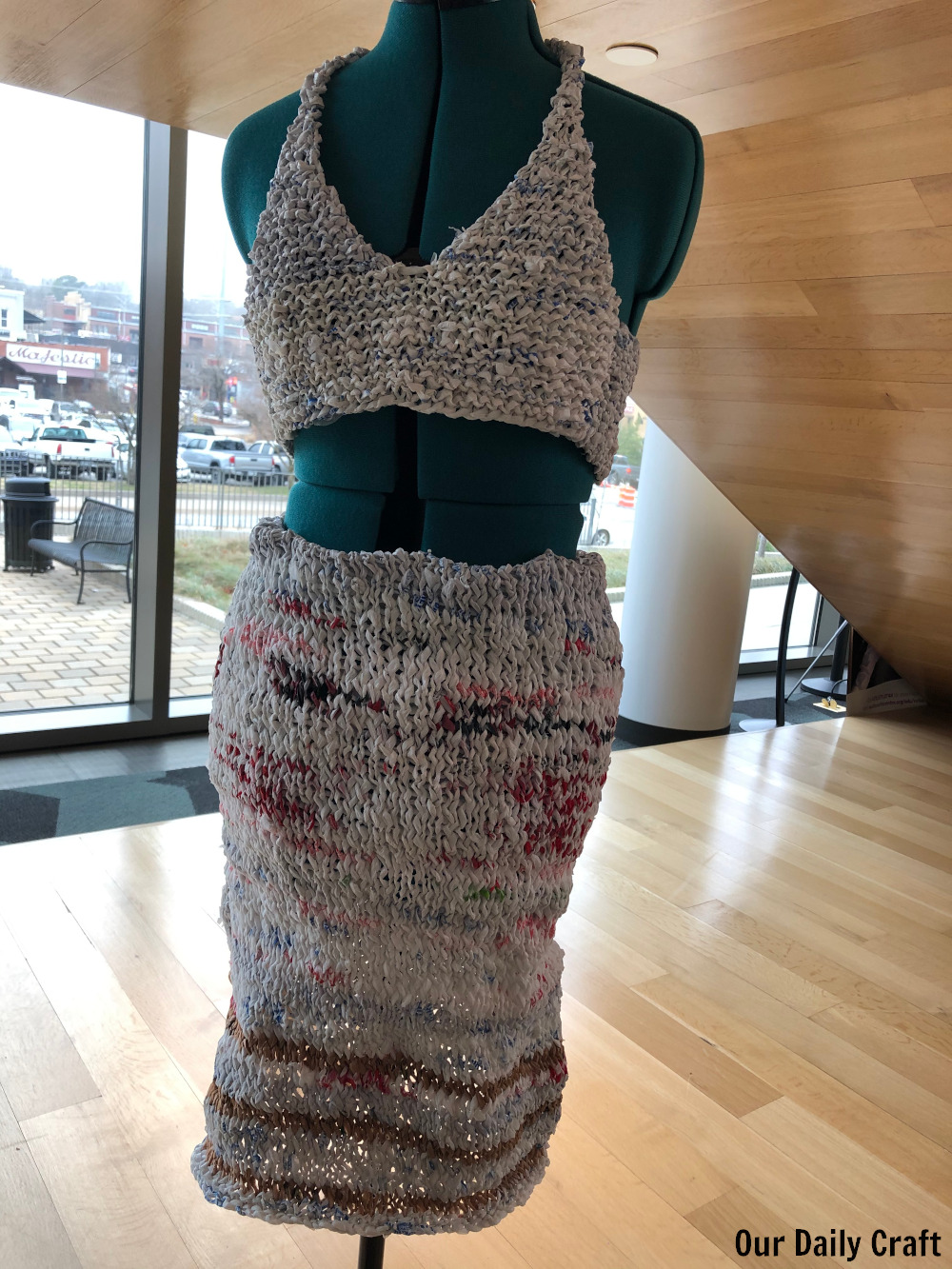 Why I Knit a Plastic Dress