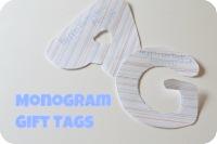 Super-Simple Monogram Gift Tags