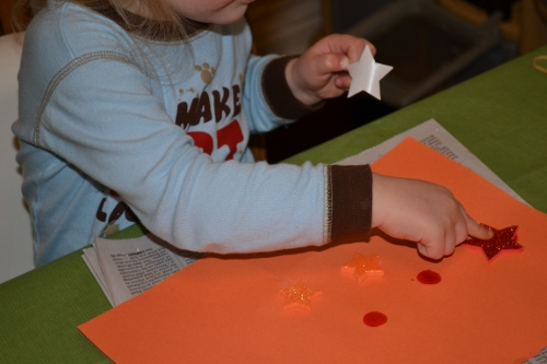 """Dots and Stickers: The Girl Makes a """"Project"""""""