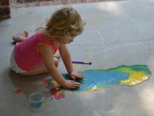 Sidewalk Chalk Paint: A Huge Hit at My House