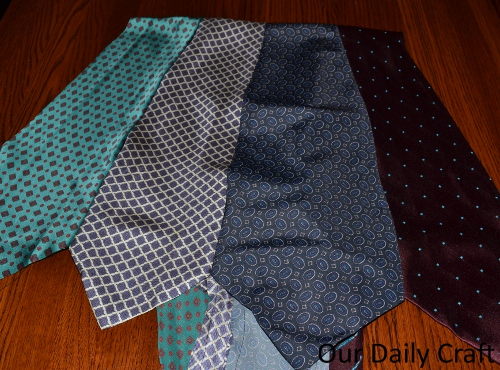 Turn Ties into Fabric {Iron Craft '13 Challenge}
