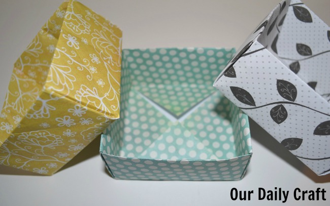 Easy Origami Boxes {Iron Craft Challenge}