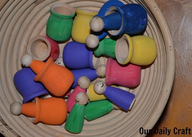 Painted Peg Toys {Iron Craft Challenge}