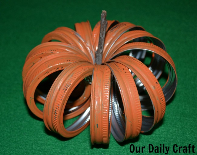 Mason Jar Lid Pumpkin {Iron Craft Challenge}