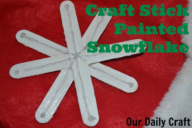 Craft Stick Snowflake Craft {Iron Craft Challenge}