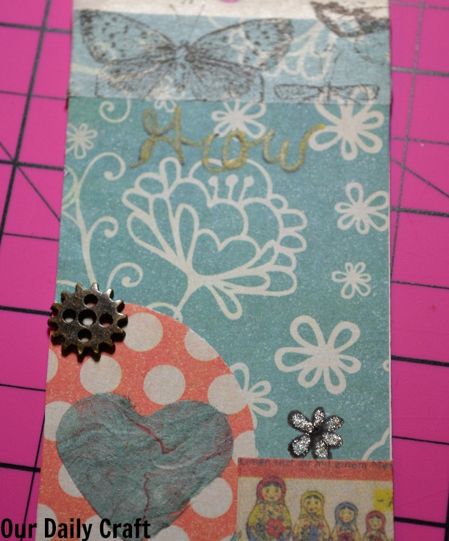 Artist Trading Card for Your Little Word {Iron Craft Challenge}