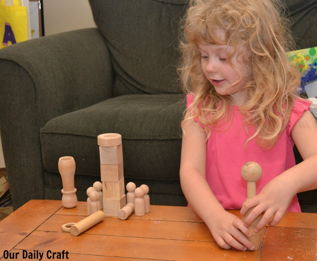 An Easy Way to Play: Wooden Pieces