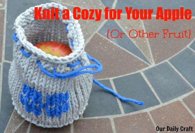Knit Apple Cozy {Iron Craft Challenge}