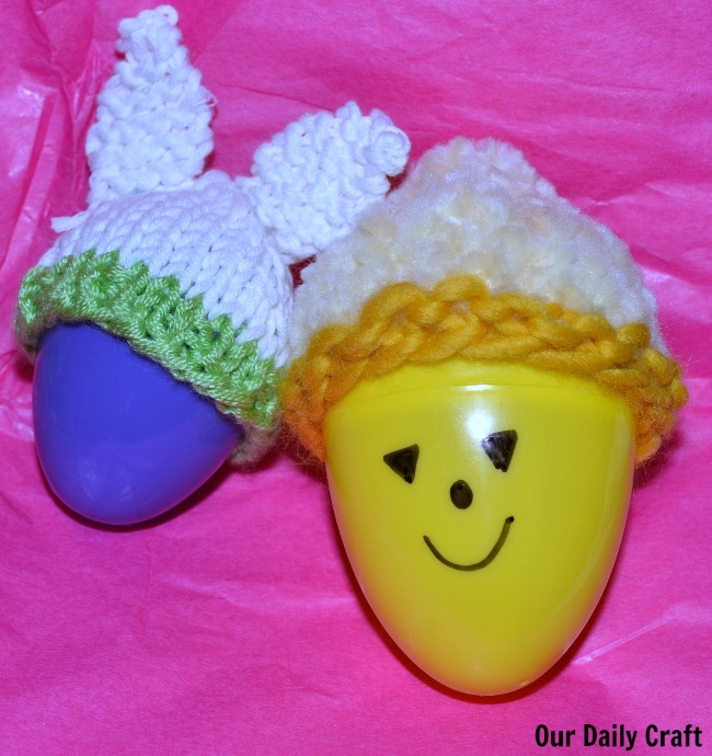 Knit Egg Cozy, or a Hat for a Plastic Easter Egg {Iron Craft}