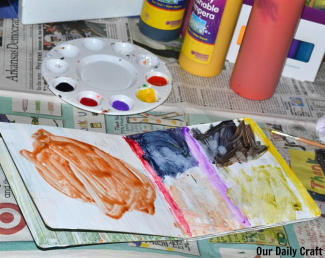 Turn an Old Board Book into a Kid's Art Journal #junkplay